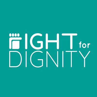Logo fight for dignity